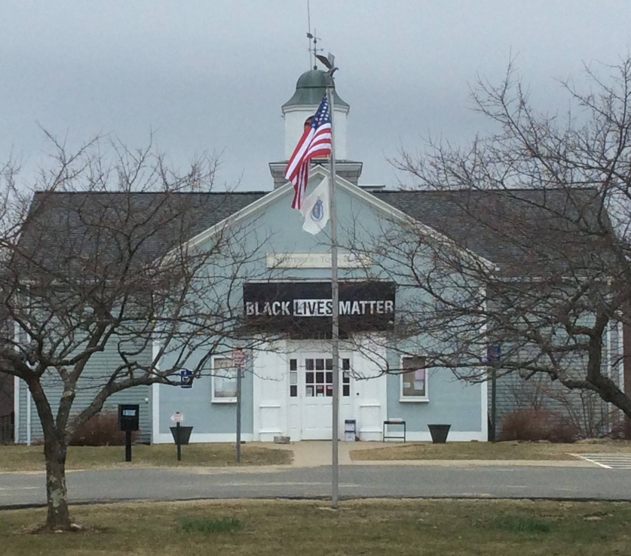 Town Hall with BLM banner